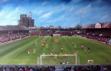 Leyton Orient v Wrexham, Brisbane Road, Play Off Final 1989 -Poster Print  A3
